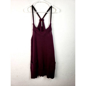 Free People Knit Racerback Sweater Tank Dress